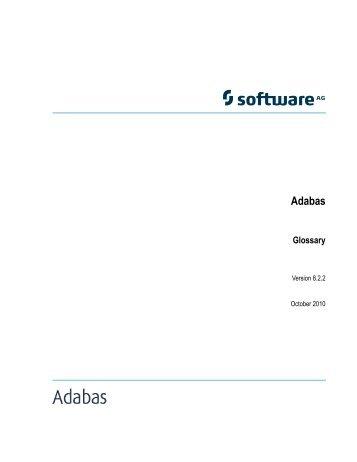 Adabas Glossary - Software AG Documentation