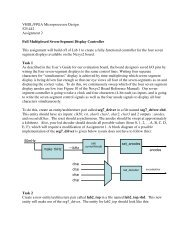 VHDL / FPGA Microprocessor Design 525 442 Doug Wenstrand