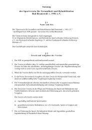 SGR Satzung in der aktuellen Fassung - SGR Bad Bramstedt Verein ...