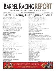 Barrel Racing Highlights of 2011 - Barrel Racing Report