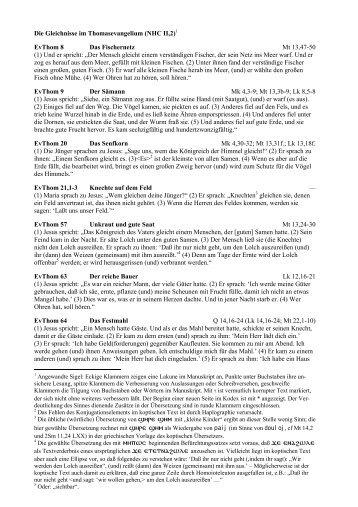 Die Gleichnisse im Thomasevangelium (NHC II,2)1 EvThom 8 Das ...