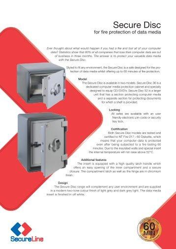 Secure Disc Data Media Fire Protection Safe Brochure - SecureLine ...