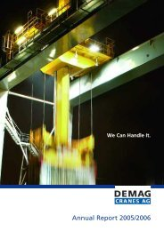 Annual Report Demag Cranes AG 2005/2006