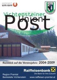 Union - Aktuelles in der Sportunion Vichtenstein