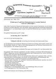 Geierswalde, den 1.März 2011 Einladung zur 8. geführten ...