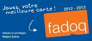 Carnet rabais Estrie 2012-2013 - FADOQ Estrie