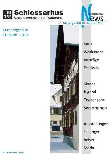 Schlosserhus News Auflage 40
