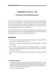 Fallstudie FAHRZEUG AG - WiWi - Universität Augsburg