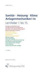 Sanitär · Heizung · Klima Anlagenmechaniker/-in Lernfelder 1 bis 15