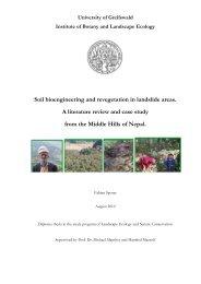 University of Greifswald Institute of Botany and Landscape Ecology ...