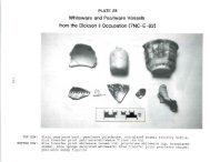 Whiteware and Pearlware Vessels from the Dickson II Occupation ...