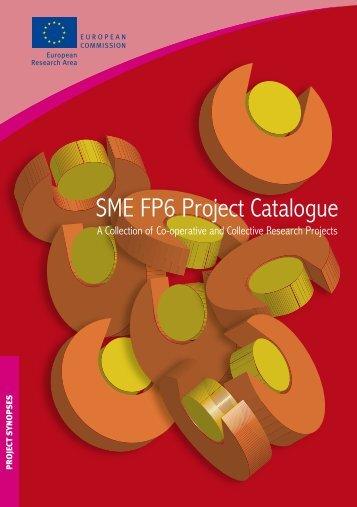 SME FP6 Project Catalogue