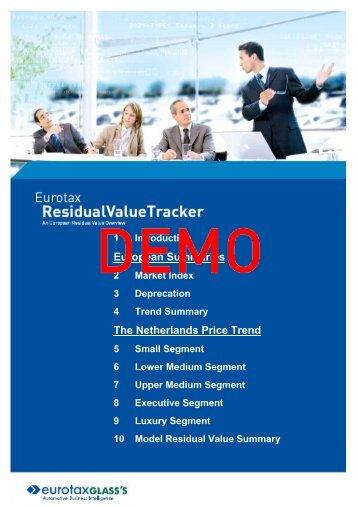 Residual Value Tracker