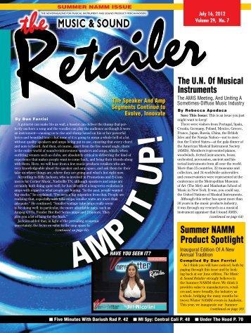 JUlY 2012 - Music & Sound Retailer