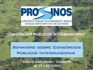 Planos e ações do Pró-Sinos Agosto 2007 a 2011 - cifal