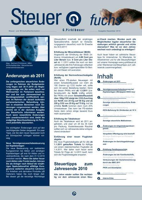 Steuern - Pirklbauer