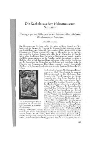 Die Kacheln aus dem Heimatmuseum Sinsheim - Furnologia