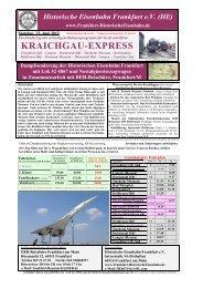 KRAICHGAU-EXPRESS - Historische Eisenbahn Frankfurt