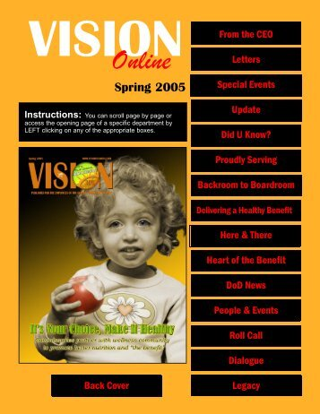 Vision Online Spring 2005 Vol. 14, No. 3 - Commissaries.com