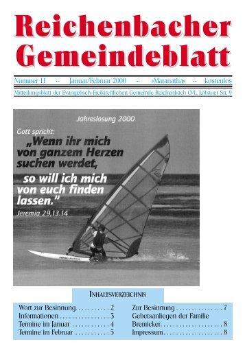 Reichenbacher Gemeindeblatt - bei der EFG Reichenbach