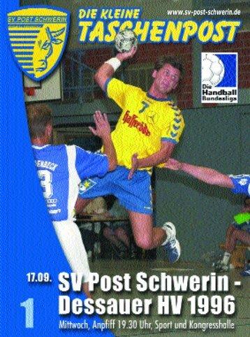 """Täglich für Sie """"am Ball"""" - SV Post Schwerin - Handball-Bundesliga"""