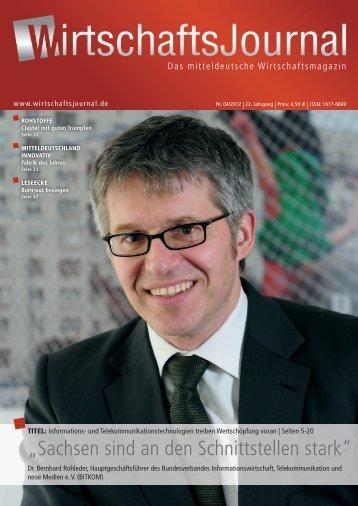 """""""Sachsen sind an den Schnittstellen stark"""" - Wirtschaftsjournal"""