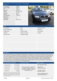 Skoda Fabia 1.4 16V Combi Classic, Klimaanlage 5.290 EUR