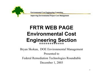 FRTR Web Page - Federal Remediation Technologies Roundtable