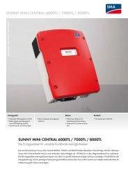 Download SMA-SUNNY MINI CENTRAL 6000TL / 7000TL / 8000TL