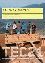 BAUEN IN BHUTAN - bei bsr bürgi schärer raaflaub architekten sia ag