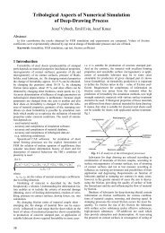 Tribological Aspects of Numerical Simulation of Deep-Drawing ...