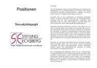 Position-Sexualpädagogik Stiftung Ecksberg - Caritas