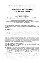 Gespräche im Sokrates-Jahr - Wolfgang Deppert