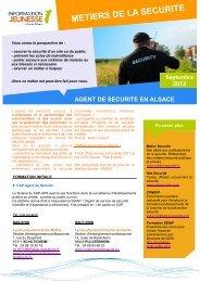 METIERS DE LA SECURITE - Réseau Information Jeunesse d'Alsace