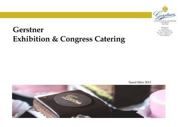 Exhibition & Congress Catering Mappe Deutsch - Gerstner
