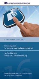 Kongressprogramm - Der deutsche Präventionstag