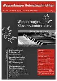 Wasserburger Heimatnachrichten 14 / 2012 - Wasserburg am Inn!
