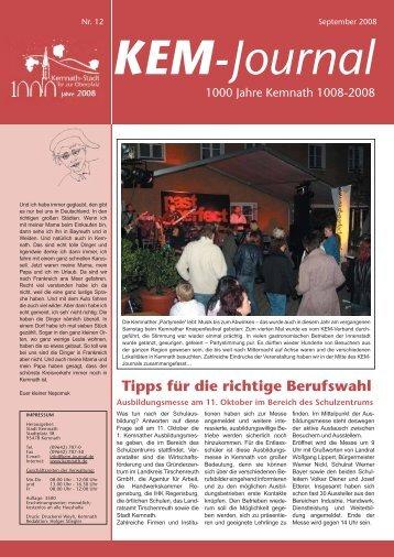 und Bezirks- wahlen am 28. Septem- ber 2008 - Stadt Kemnath