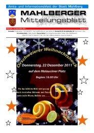 FREITAG, 16. Dezember 2011 Nummer 50 - Stadt Mahlberg