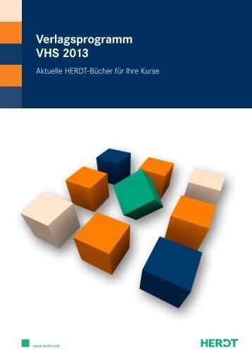 VERLAGSPROGRAMM VHS 2013 Berufliche Bildung
