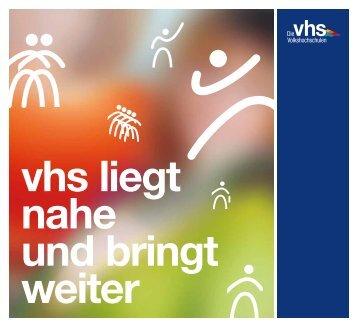 """Der Programmbereich Grundbildung in der Broschüre """"vhs"""
