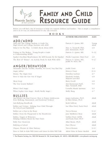 FRGuide09chx:Family Resource Guide - The Phoenix Society for ...