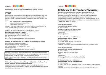 Angebote der VHS Unterland im Rahmen des Landesprogramms