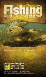 2012 Minnesota Fishing Regulations - Minnesota Department of ...