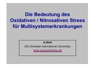 Die Bedeutung des Oxidativen / Nitrosativen Stress f