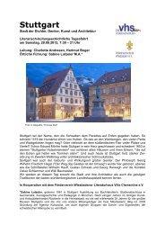 Stuttgart - Volkshochschule Wiesbaden