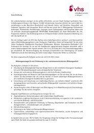 Bildungsmanager/in(pdf) - Volkshochschule Stuttgart