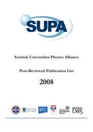 Scottish Universities Physics Alliance Peer-Reviewed ... - SUPA