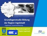 Grundlagenstudie Bildung - Initiative Regionalmanagement Region ...