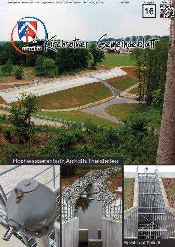 Nr. 16 (Juni 2012 - 40 Seiten) - Gemeinde Kirchroth